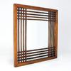 Wayborn Furniture Burma 28-in x 28-in Brown Square Framed Wall Mirror