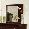 Homelegance Glamour 39-in x 32.5-in Espresso Polished Rectangle Framed Wall Mirror