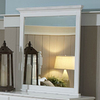 Homelegance Morelle 35-in x 39-in White Polished Rectangle Framed Wall Mirror
