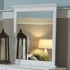Homelegance 35-in x 39-in White Rectangle Framed Wall Mirror