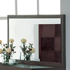 BH Design Walnut Rectangle Framed Wall Mirror