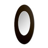 Nexera 18-in x 36-in Dark Brown Oval Framed Mirror