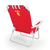 Picnic Time Red NCAA Usc Trojans Steel Folding Beach Chair