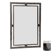Stone County Ironworks Forest Hill 25-in x 29-in Natural Black Rectangle Framed Wall Mirror
