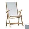 Jewels of Java Grey Teak Folding Beach Chair