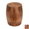 Woodland Imports Vintage Inspire Copper Round Ottoman