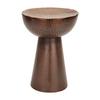 Woodland Imports Vintage Inspire Bronze Round Ottoman
