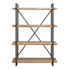UMA Enterprises 67-in H x 47-in W x 14-in D 4-Tier Wood Freestanding Shelving Unit