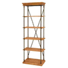 Woodland Imports 72-in H x 24-in W x 14-in D 5-Tier Wood Freestanding Shelving Unit
