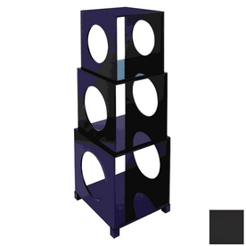 Woodland Imports H x W x D 3-Tier Wood Freestanding Shelving Unit