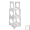 UMA Enterprises H x W x D 3-Tier Wood Freestanding Shelving Unit