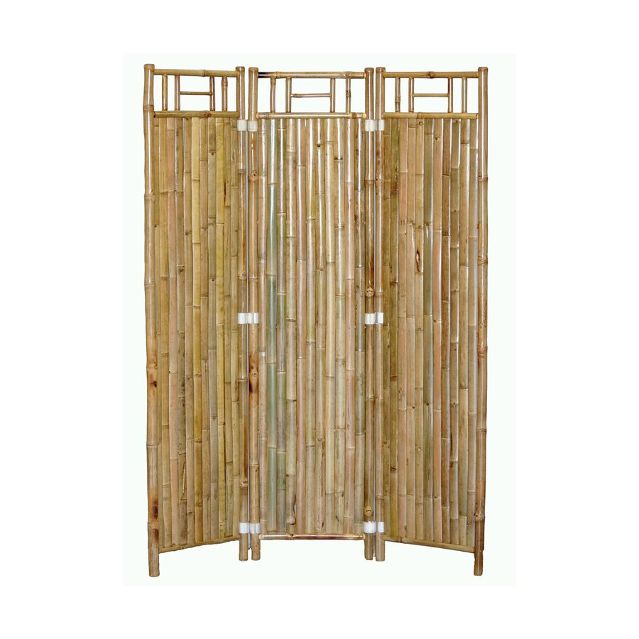 Shop Bamboo 54 3 Panel Natural Oil Folding Indoor Privacy