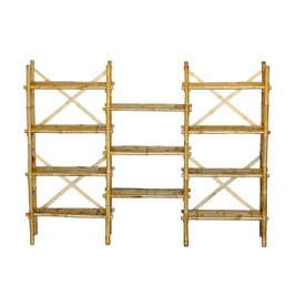 Bamboo 54 62-in H x 80-in W x 15-in D 11-Tier Wood Freestanding Shelving Unit