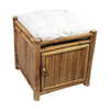 Bamboo 54 Natural Bamboo Square Storage Ottoman