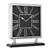 Cooper Classics Butler Square Shiny Nickel Table Clock