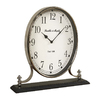 Cooper Classics Miranda Shiny Nickel Table Clock