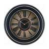 Cooper Classics Roman Numeral Mckenna Distressed Black Wall Clock
