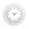 Ashton Sutton Standard/Arabic Numeral Endless Chain White Wall Clock