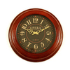 Ashton Sutton Standard/Arabic Numeral Opera Walnut Wall Clock