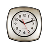 Ashton Sutton Standard/Arabic Numeral Matte Grey and Black Wall Clock