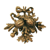 Hickory Manor House 14-in W x 14.25-in H Fruit Carving Sculptural Wall Art