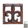 Hickory Manor House 15.5-in W x 15.5-in H Fluer-De-Lis Tile Sculptural Wall Art