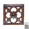 Hickory Manor House 15.5-in W x 15.5-in H Frameless Gothic Dome Star Tile Sculptural Wall Art