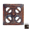 Hickory Manor House 15.5-in W x 15.5-in H Frameless Gothic Dome Tile Sculptural Wall Art