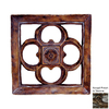 Hickory Manor House 15.5-in W x 15.5-in H Gothic Square Tile Sculptural Wall Art
