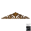 Hickory Manor House 32-in W x 8-in H Frameless Open Leaf Acanthus Sculptural Wall Art