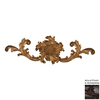 Hickory Manor House 16.5-in W x 5.25-in H French Sunflower Cartouche Sculptural Wall Art