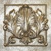Hickory Manor House 9.5-in W x 9.5-in H Acanthus Tile Sculptural Wall Art