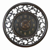 Woodland Imports Standard/Arabic Numeral Royal Brown Wall Clock