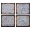 UMA Enterprises 16-in W x 13-in H Maps and Charts Metal Wall Art