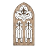 Woodland Imports Fleur de Lis Panel 24-in W x 50-in H Frameless Wood 3D Wall Art