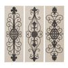 Woodland Imports Scroll Design 3-Piece 12-in W x 36-in H Frameless Metal 3D Wall Art