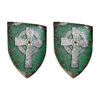 Design Toscano 2-Piece Celtic Warrior's Shield 13-in W x 18-in H Frameless Resin Museum Sculptural Wall Art