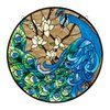 Design Toscano 10-in W x 10-in H Frameless Springtime's Peacock Wall Art