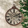 Design Toscano Roman Numeral Mappe Monde 1744 Faux Copper Wall Clock