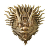 Design Toscano 19-in W x 19-in H Frameless Tibetan Dragon Mask Sculptural Wall Art