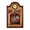 RAM Gameroom Products Big Game Framed Art Brown Wall Clock