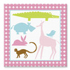 KidKraft 15-in W x 15-in H Animals Canvas Wall Art