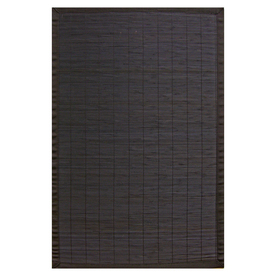 Anji Mountain Bamboo Rectangular Multicolor with Multicolor Border Area Rug (Common: 4-ft x 6-ft; Actual: 4-ft x 6-ft)