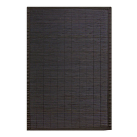 Anji Mountain Bamboo Rectangular Multicolor with Multicolor Border Area Rug (Common: 6-ft x 9-ft; Actual: 6-ft x 9-ft)