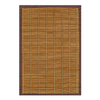 Anji Mountain Bamboo Rugs 4-ft x 6-ft Rectangular Multicolor Border Area Rug