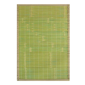 Anji Mountain Bamboo Rectangular Multicolor with Multicolor Border Area Rug (Common: 5-ft x 8-ft; Actual: 5-ft x 8-ft)