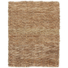 Anji Mountain Jute 5-ft x 8-ft Rectangular Beige Solid Area Rug