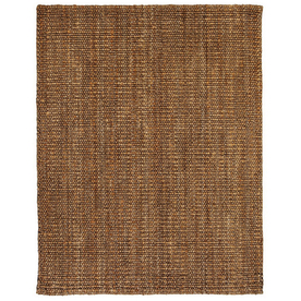 Anji Mountain Jute Rectangular Multicolor Solid Jute Area Rug (Common: 9-ft x 12-ft; Actual: 9-ft x 12-ft)