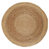 Anji Mountain Jute 8-ft x 8-ft Round Multicolor Transitional Area Rug