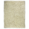 Anji Mountain Paper Shag 4-ft x 6-ft Rectangular Beige Solid Area Rug